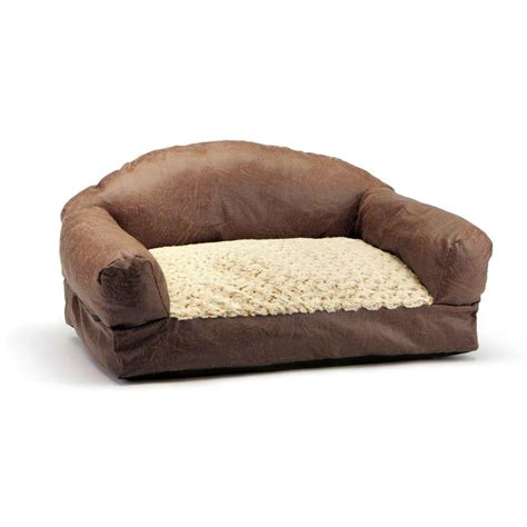 dog beds for the sofa brinkmann pet products 29 in brown faux fur and faux