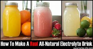 How To Make A Real All-natural Electrolyte Drink