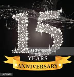 15th wedding anniversary 15th anniversary vector getty images