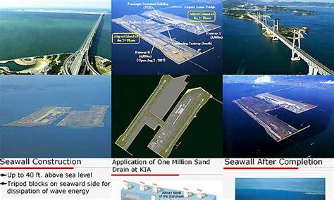 kansai international airport sinking rate kansai and international airport osaka bay japan