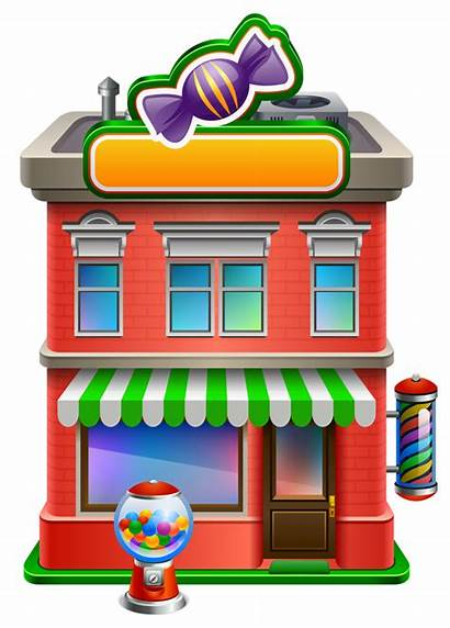 Household Clipart Candy Transparent Clip Houses Dollhouse
