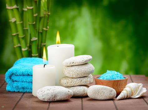 spa zen salt stones candles bamboo bath salt hd wallpaper