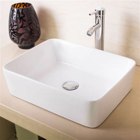 New Bathroom Sink by New Bathroom Rectangle White Porcelain Ceramic Vessel Sink