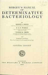 Bergey U0026 39 S Manual Of Determinative Bacteriology