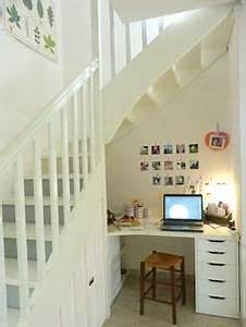 Bureau Sous Escalier : 1000 images about sous escalier on pinterest bureaus ~ Farleysfitness.com Idées de Décoration