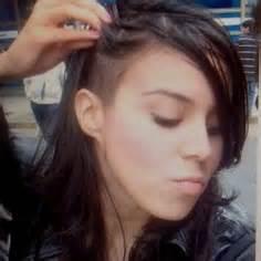 girl  trendy hair side shave undercut