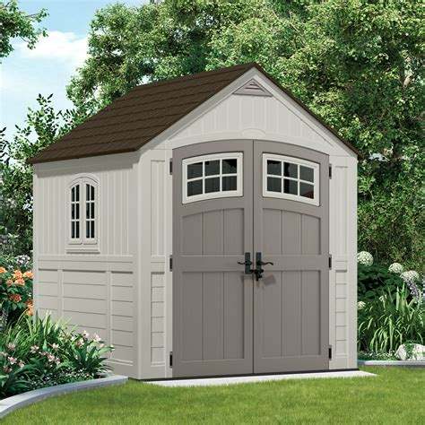 7x7 shed home depot suncast 7x7 cascade two plastic shed greenhouse stores