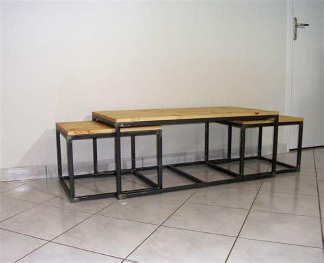 table basse gigogne blanche et bois choix d 233 lectrom 233 nager