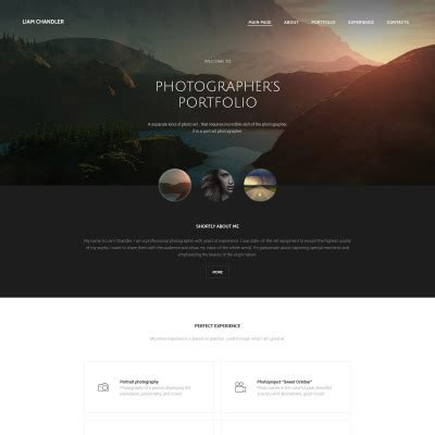 Portfolio Website Templates Design Photography Templates Templatemonster