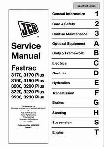 Jcb 3170 3190 3200 3220 3230 Fastrac Service Repair Manual