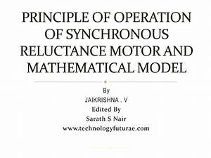 Principle Of Operation Of Synchronous Reluctance Motor And