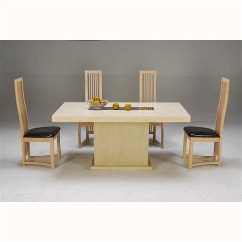 cream marble dining table celine cream and cocoa brown marble dining table with 4