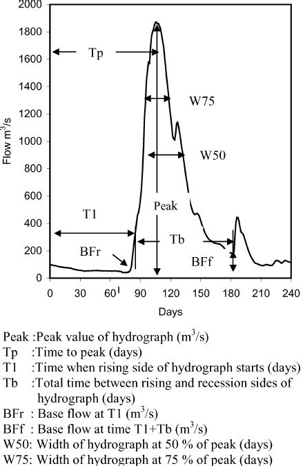 Hydrograph characteristics for the artificial neural