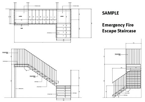 emergency fire escape design cad pro
