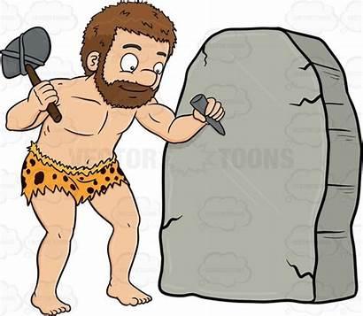 Carving Clipart Cave Caveman Stone Antecedentes Estadistica