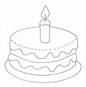 Birthday Cake Coloring Page U00bb Wee Folk Art