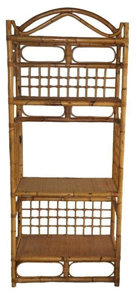 Bamboo Etagere by Bamboo Rattan Etagere Modern Bookcases