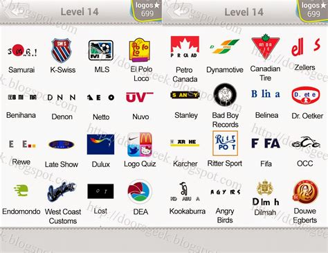 Logo Quiz Level 14 Answers by bubble quiz games Answers ...
