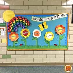Cute Spring Classroom Door Decorations by Schoolhouse Talk Spring Bulletin Board