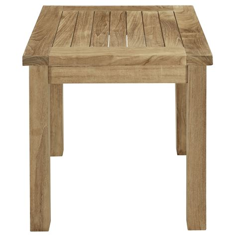 teak side table modern furniture brickell collection