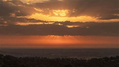 Sunset Clouds Sky Horizon Landscape 1080p Background