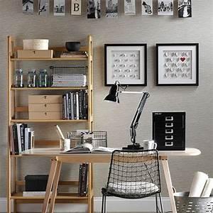 Büro Zu Hause Einrichten : wohnideen arbeitszimmer home office b ro neutral b ro zu hause mit schwarzen accessoires ~ Markanthonyermac.com Haus und Dekorationen