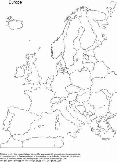 Europe Map Coloring Printable Blank