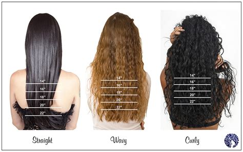 curly hair extensions length chart properly