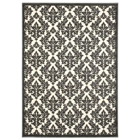 overstock area rugs nourison overstock ultima ivory grey 5 ft 3 in x 7 ft 3