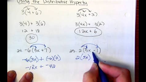 7th Grade Distributive Property Youtube