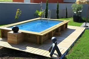 charmant terrasse piscine semi enterree 12 fabricant de With marvelous terrasse piscine semi enterree 12 piscines bois petite piscine hors sol enterree