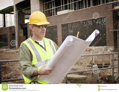 construction foreman   job site stock photo image
