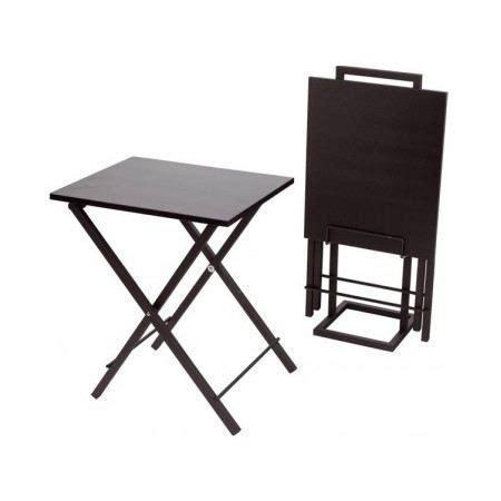 set de 2 tables d appoint pliantes noir achat vente bout de canap 233 2 tables d appoint