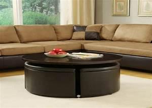 Pouf Pour Salon : la table basse avec pouf pour un style de vie moderne ~ Premium-room.com Idées de Décoration
