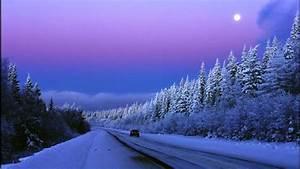 purple sunset winter road image id 10029 image abyss