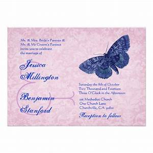 wedding invitation wording wedding invitation templates With blue butterfly wedding invitations templates