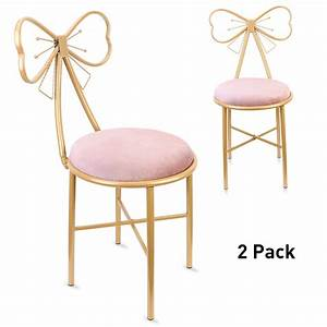 2, Pack, Soft, Velvet, Leather, Dressing, Table, Chair, Room, Makeup, Chairs, Vanity, Stools