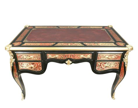bureau marqueterie louis xv desk in marquetry boulle ls bronze