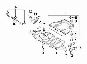 Audi A6 Radiator Support Splash Shield  Front  Lower   A6