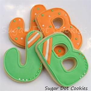 custom letter and word sugar cookies custom decorated in With letter cookies