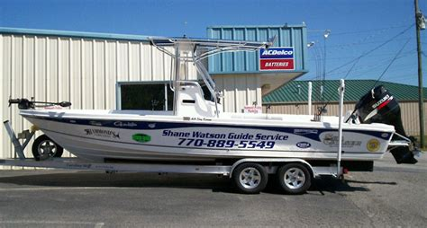 Carolina Skiff Guide Boat by Shane Watson Striper Fishing Guide Lake Lanier