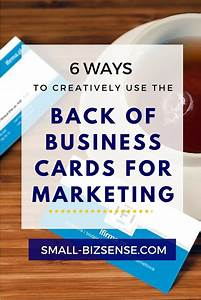 6 ways to creatively use the back of business cards for for What to put on back of business card