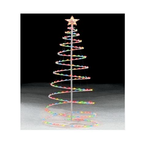 light up outdoor trees christmas 6 39 multicolor lighted spiral christmas tree an occasion