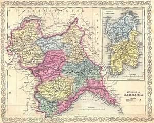 Historical Map of Sardinia • Mapsof net