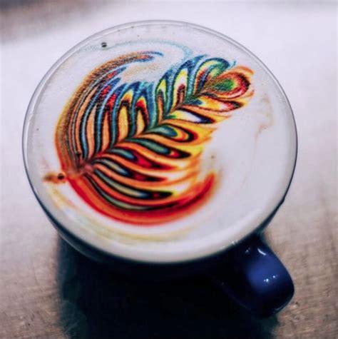 colorful rainbow coffees rainbow colored coffee