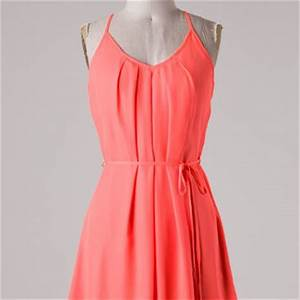 Neon Coral Dress