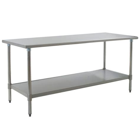 stainless steel table l eagle group t3072sem 30 quot x 72 quot stainless steel work table