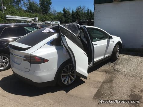 tesla suv doors tesla model x owner wrecks car by driving with the falcon