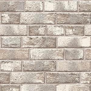 Tempaper White Brick Wallpaper