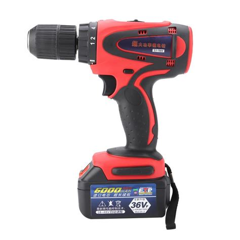 lithium battery operated cordless power drill
